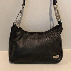 PELLE STUDIO Black Leather Small Hobo Purse-CUTE!